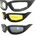 Motorcycle Goggles Glasses Sunglasses Padded Eva Foam Clear-Smoke-Yellow Lenses