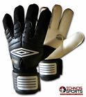 Umbro DP Storm adult size football soccer goalie goalkeeper gloves black