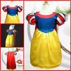 Halloween Snow Whites Princess  Christmas Party Girls Dress Costume 3-4-5-6-7-8Y