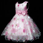 P3211 Pink Christmas New Years Party Flower Girls Pageant Dress SZ 4T-5T-6T-7-8T