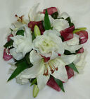 wedding flowers posy table decoration many colours ROSES AND LILIES