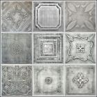ANTIQUE SILVER STYROFOAM 20x20 TIN LOOK CEILING TILES DIFFERENT PATTERNS