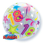 "Age 18 21 30 40 50 60 Bubble Balloon - Qualatex 22"" Balloon Helium or Air"