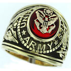 Mens Army Seal US Military Gold Plated Ring