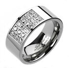 Titanium Men's Gorgeous Polished .90 Carat CZ Band Ring Size 9-14