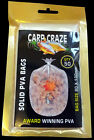 50 PVA BAGS SOLID FILM CARP CRAZE (All Sizes)