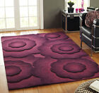 Heavy Weight Handtufted Wool Large Rug in 3x5, 4x6, 5x7 Purple Carpet