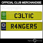 Celtic or Rangers Football Numberplate Novelty Wall Sign Official Club Crest New