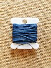 ROYAL BLUE Waxed Irish Linen Crawford Bead Cord 3 ply 0.7mm 5 - 110 yards