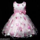 P3211 Pinks Princess Wedding Party Flower Girls Pageant Dress SIZE 3 to 8 Years