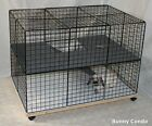 Indoor Rabbit Bunny Condo cage, HANDMADE, pen home hutch carpeted NEW
