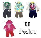 3 PC FLEECE CARTERS SET BABY GIRLS BOYS OUTFIT CHILDRENS CLOTHES WINTER WARM KID