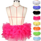 Neon Rainbow Tulle 8 tiers Micro Mini Tutu Skirt Fancy Dress Rave Party Costume