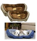 Large Dog Bolster Couch pet Bed polyfil tufted cushion washable cover & liner