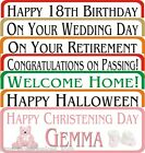 Personalised Party Banner all occasions birthday 1-4m paper Krafty Keepsakes IOM