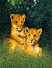 3203 LION CUBS FUN WALL ART FANTASY METAL WALL SIGN BRAND NEW