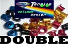 Onza Alloy Chainring Bolts, Double, mega-light, red, blue, gold top quality NEW