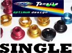 Onza Alloy Chainring Bolts,Single,Set 5. Red, Gold, Black, Blue CNC Machined NEW