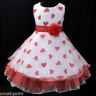 R1525 Reds White Christmas Wedding Flower Girls Pageant Dress AGE 3-4-5-6-7-8-9T