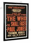 The Who Small Faces Paul Jones New Zealand Concert Poster 1968