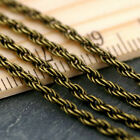 12ft Antique Bronze Plated Vintage Chain Rope Chain 2.1mm c202 PICK