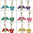 2016 Newest Style Design Butterfly Pendant Quartz Pocket KeyChain Ring Watch