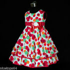 USA HP3118A Girl Pinks Christmas Party Girls Dress Outfit SZ 2,3,4,5,6,7,8,9,10T