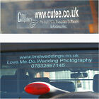 Company Advertising Rear Window Stickers-Custom Made Clear Signage-Also External