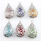 6/30pcs New Fashion Charms Hollow Teardrop Copper Pendants Findings 30x18x9mm