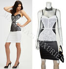 $795 JUST CAVALLI by ROBERTO CAVALLI DRESS SEXY HOURGLASS BUSTIER LACE DETAIL