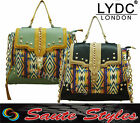 Ladies LYDC Celebrity Boutique Aztec Print Satchel Chain Strap Laptop Hand Bag