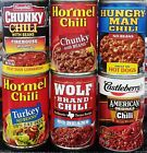 Canned Chili Meat Beef or Turkey ( 3 Pack ) in Cans ~ Pick One