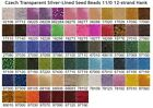 Czech 11/0 Transparent Silver-Lined Seed Beads 12-strand Hank 1