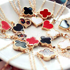 1 pc Clover Hearts Alloy Beautiful Necklaces chain 40cm pendant 1.6*1.6cm