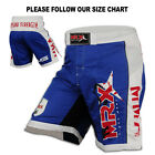 MMA Grappling Shorts Boxing Fight Short UFC Blood Cage Fighter MRX Blue/White