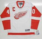 "HENRIK ZETTERBERG DETROIT RED WINGS REEBOK AWAY JERSEY W/ CAPTAINS ""C"""