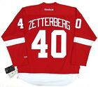 HENRIK ZETTERBERG DETROIT RED WINGS REEBOK HOME JERSEY W CAPTAINS C
