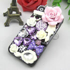 NEW Bling mix Flower ANNA SUI Crystal Finished Case cover skin for iPhone 4 4S 5