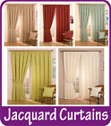 Cheap Full Lined Tape Top Pencil Pleat Jacquard Curtains & Thermal Door Curtains