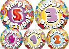 "Mixed AGE  Happy Birthday 18"" helium foil balloon BNIP (5 Types) BNIP wholesale"