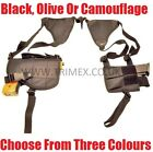 ARMY ISSUE SECURITY FANCY DRESS TACTICAL SHOULDER HOLSTER AIRSOFT BB GUN BLACK