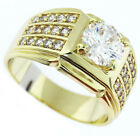 Classic Royal Simulated Diamond 18kt Gold Plated Ring