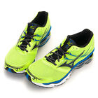 BN MIZUNO Men's Wave Creation 14 Running Shoes Lime-Blue-Black 8KN-30027 +GIFT