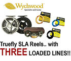 WYCHWOOD Truefly SLA Cassette Fly Reel with *3 PRE-LOADED FLY LINES* Fly Fishing