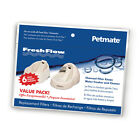 PetsMate FRESH FLOW DELUXE Cat Drinking Fountain  Replacement Filters 6 PAK