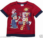 BOYS APPLIQUE LETS GET MESSY SHORT SLEEVE TOP 18-24, 2-3, 3-4, 4-5, 5-6 YEARS