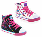 Pineapple Baseball Hi-Top Style Pumps Canvas Girls Infants Shoes Size 6-12 UK
