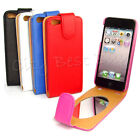 Multicolor PU Leather Flip Wallet Oval Mirror Case Cover for Apple iPhone 5G LOT