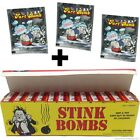 1 CASE OF 36 STINK BOMBS + 3 FART BOMB BAGS ~ COMBO SET