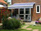 5m Full Cassette Manual Garden Patio Awning Sun Canopy Shade Retractable Shelter